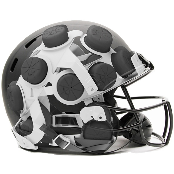 American Football Helmet Xenith Shock Absorber